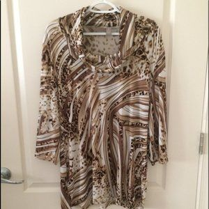 Chico's Knit Tunic Top Size 2/L